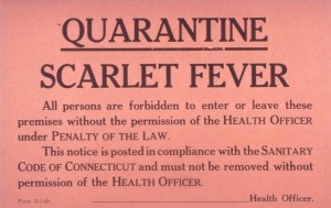 Scarlet Fever quarantine notice